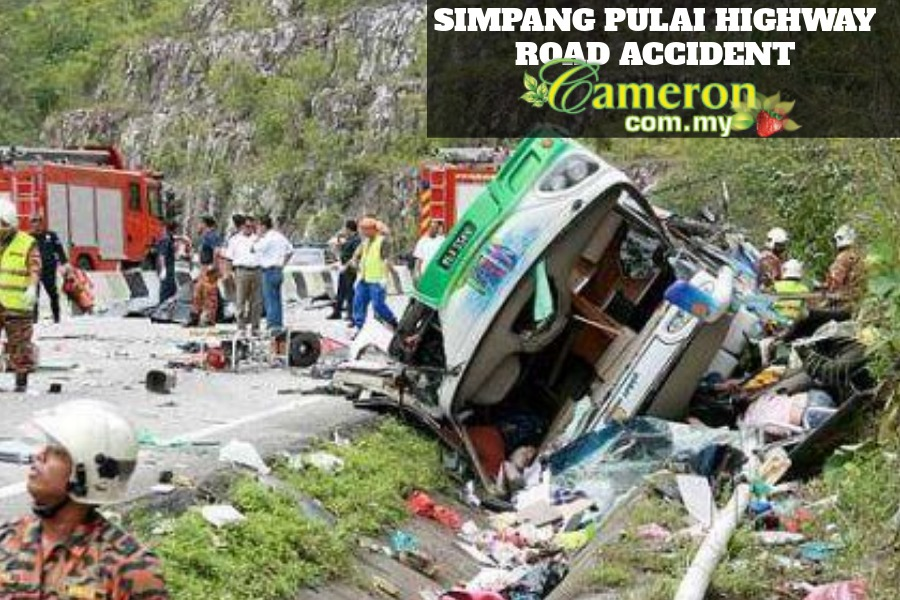 Simpang Pulai Cameron Highlands road accident 26 killed